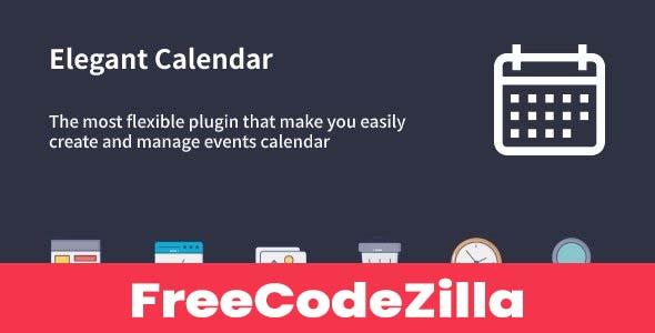 Elegant Calendar Nulled v1.1.2 - WordPress Events Calendar Plugin