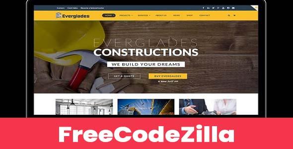 Everglades – Construction WordPress Theme Free Download