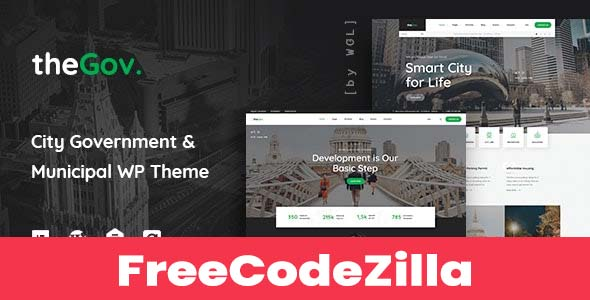 TheGov Nulled v1.2.2 – Municipal and Government WordPress Theme